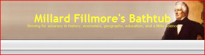 See the blank line below the masthead? It's supposed to list important articles for first-time visitors, and for me.