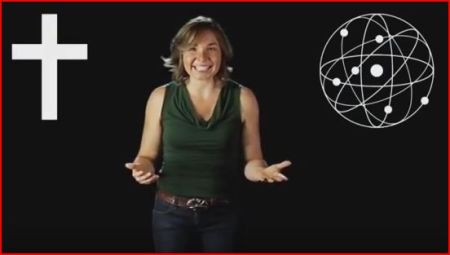 "Katharine Hayhoe, climate scientist, image from NOVA's ""Secret Life of Scientists"""