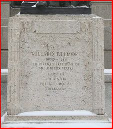 Inscription on the statute of Millard Fillmore at Buffalo's City Hall. Fillmore's better qualities crowd out critical elements. Buffalo News file photo.