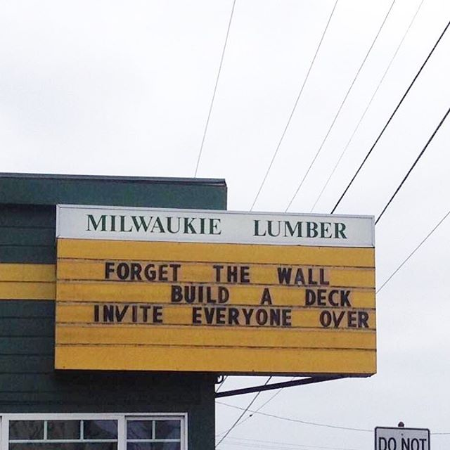 A sign of better things to come? Image found on Facebook, tracing back to a Willamette Week Instagram account; where is this company and this sign?