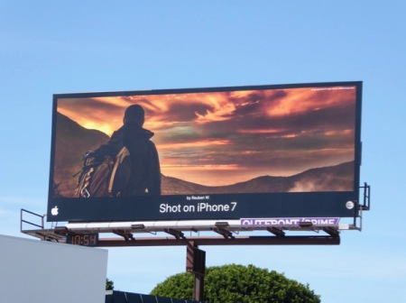 You've seen the ad campaigns for iPhones appealing to your sense of beauty in photographs. Image form Daily Billboard.
