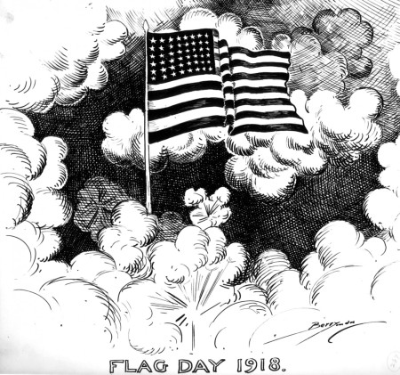 Flag Day cartoon by Clifford Berryman (Washington Post?); June 14, 1918