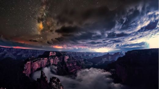 "Screen capture from the film, ""Kaibab Elegy,"" by filmmakers Gavin Heffernan and Harun Mehmedinović, in Grand Canyon National Park."