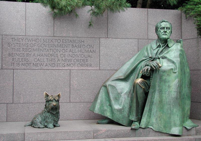 FDR and Fala at the FDR Memorial in Washington, D.C.