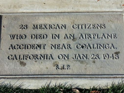 Marker to the 28 Mexico citizens who died in the Los Gatos Canyon crash in 1948. University of Arizona image via Smithsonian Magazine