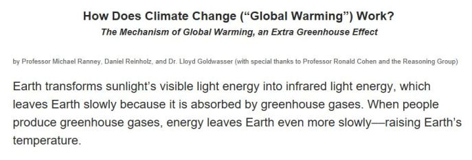 Global warming in 35 words, from HowGlobalWarmingWorks.com