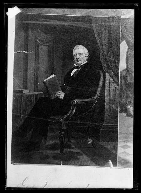 Millard Fillmore, in 1873, 20 years after he left the presidency. Portrait by C. M. Bell. From the Library of Congress.