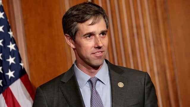 U.S. Rep. Beto O'Rourke, D-Texas (El Paso) in a House committee hearing room. Relevant Magazine image.
