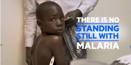 No standing still with malaria, fighting the disease must continue or progress can be quickly lost. Still from WHO film on World Malaria Report 2018 call to action.