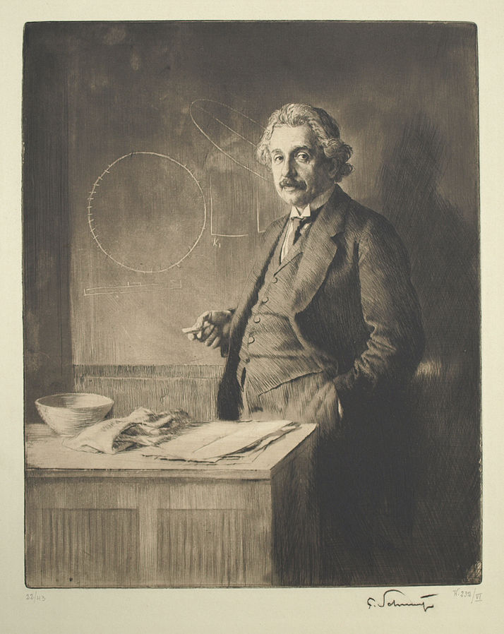 Einstein in 1921, by Ferdinand Schmutzer